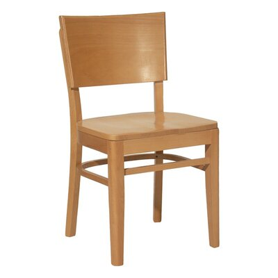 Side Chair Upholstery: Khaki, Finish: Medium Lanty Oak