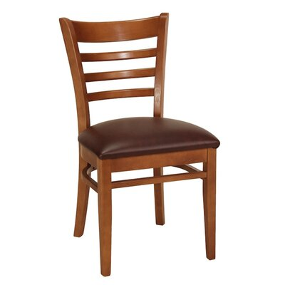 Side Chair Finish: Wild Cherry, Upholstery: Orange