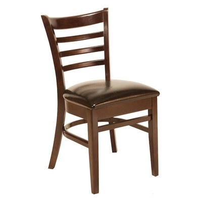 Office Stacking Chair Seat Color: Chocolate, Frame Finish: Medium Lanty Oak