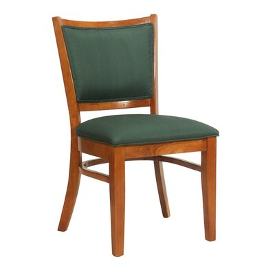 Side Chair Upholstery: Khaki, Finish: Wild Cherry