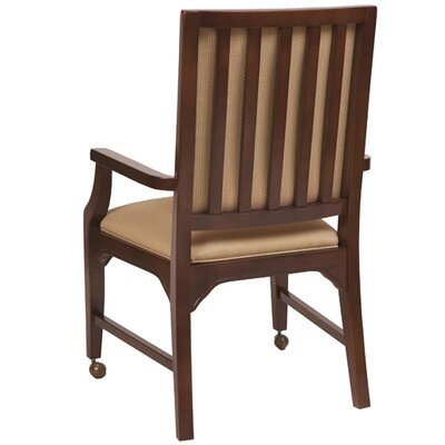 Arm Chair Finish: Kennsington Maple, Upholstery: Khaki