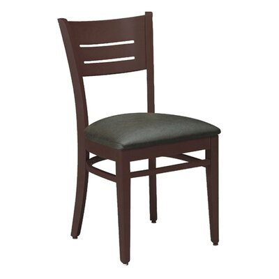 Side Chair Upholstery: Charcoal, Finish: Wild Cherry
