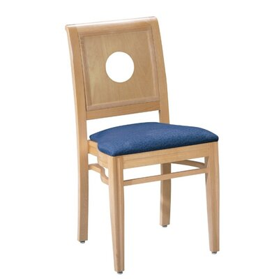 Office Stacking Chair Seat Color: Orange, Frame Finish: Medium Lanty Oak