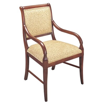 Arm Chair Upholstery: Sky, Finish: Montana Walnut