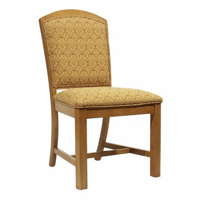 Side Chair Finish: Wild Cherry, Upholstery: Pumpkin