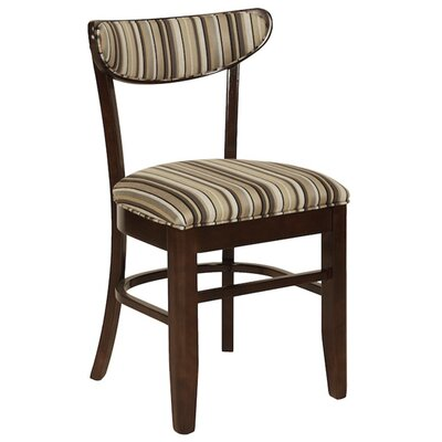 Side Chair Upholstery: Chocolate, Finish: Wild Cherry