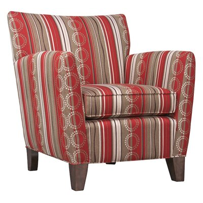 Armchair Finish: Khaki, Color: Wild Cherry