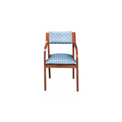 Office Side Chair Seat Color: Sky, Frame Finish: Medium Lanty Oak
