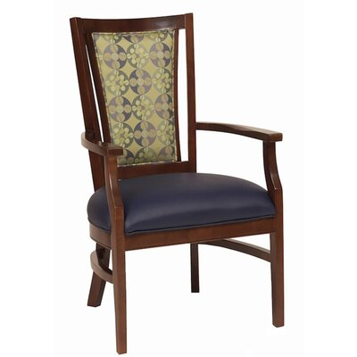 Arm Chair Upholstery: Pumpkin, Finish: Medium Lanty Oak