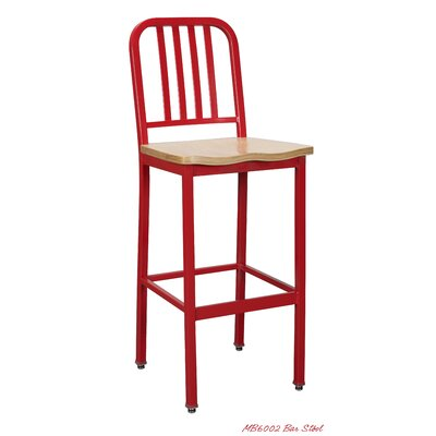 30 Bar Stool Color: Red