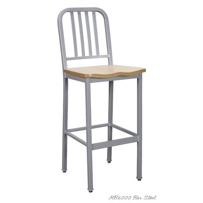 30 Bar Stool Color: Silver