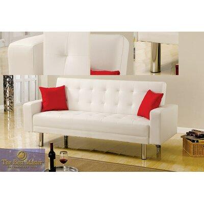 1748 BMFR1001 BestMasterFurniture Adjustable Futon Sleeper Sofa