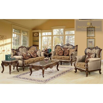 BestMasterFurniture Jenna -3PC Jenna 3 Piece Traditional Living Room Set