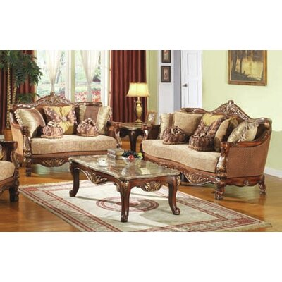 BestMasterFurniture D081- 2 pc Traditional 2 Piece Traditional Living Room Set