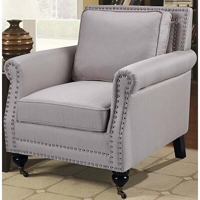 Fabric Arm Chair Upholstery Color: Taupe