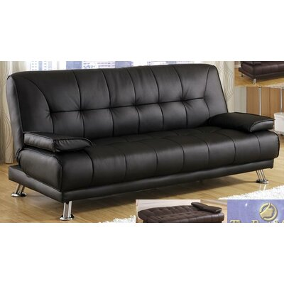 BestMasterFurniture JF10 Black Adjustable Futon Convertible Sofa
