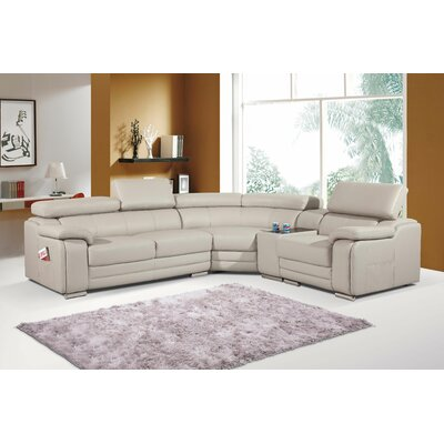 Reclining Sectional Upholstery: Stone