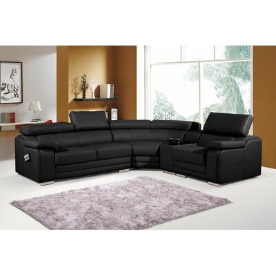 Reclining Sectional Upholstery: Black
