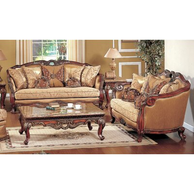 BestMasterFurniture Denmark 2 Pcs Denmark Sofa and Loveseat Set