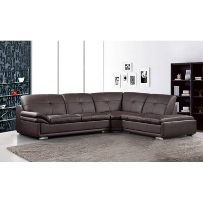 Sectional Upholstery: Brown