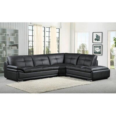 Sectional Upholstery: Black