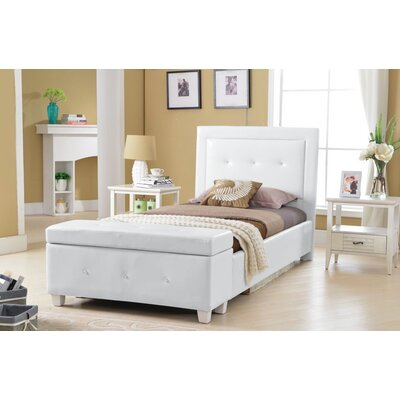 Twin Platform Bed with Storage