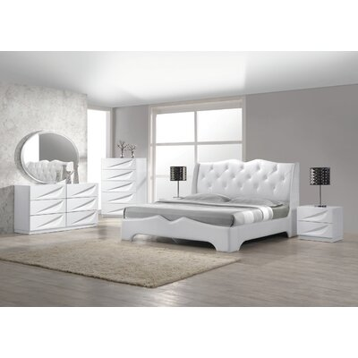 Madrid Platform 5 Piece Bedroom Set Size: King