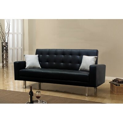 BestMasterFurniture 1748 Black Futon Adjustable Sleeper Sofa
