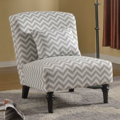 Gibbens Living Room Slipper Chair Upholstery: Gray