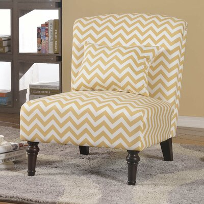 Gibbens Living Room Slipper Chair Upholstery: Tan