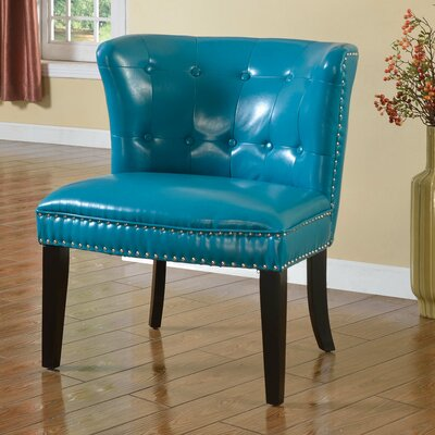 Living Room Slipper Chair Upholstery: Sea Green