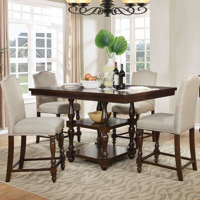 5 Pieces Counter Height Pub Table Set