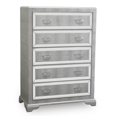 5 Drawer Chest Finish: Silver