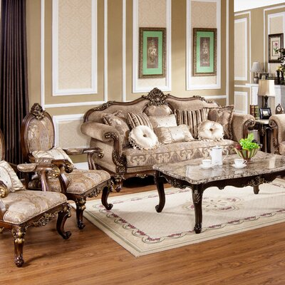BestMasterFurniture MC1428 Traditional Sofa and Chair Set