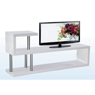 Hollow TV Stand Finish: White