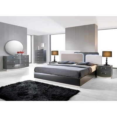 Valencia Platform 5 Pieces Bedroom Set Upholstery: California King