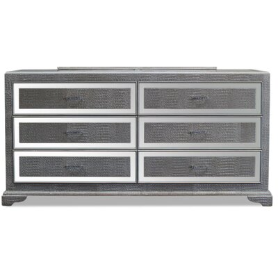 6 Drawer Dresser Color: Silver
