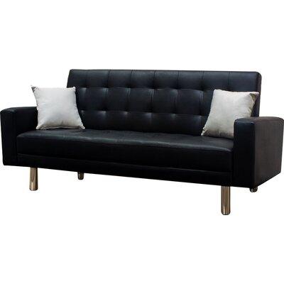 Convertible Sofa Upholstery: Black