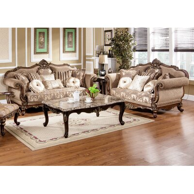 BestMasterFurniture MC1428 Sofa/ Love Traditional Sofa and Loveseat Set