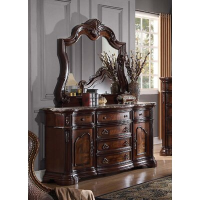 Waldrep 6 Drawer Combo Dresser