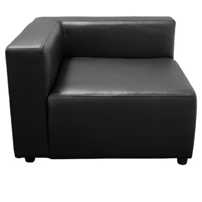 Corner Lounge Chair Color: Black