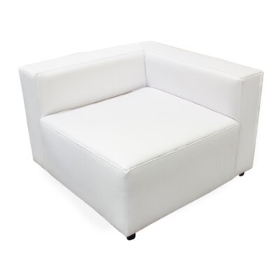Corner Lounge Chair Color: White