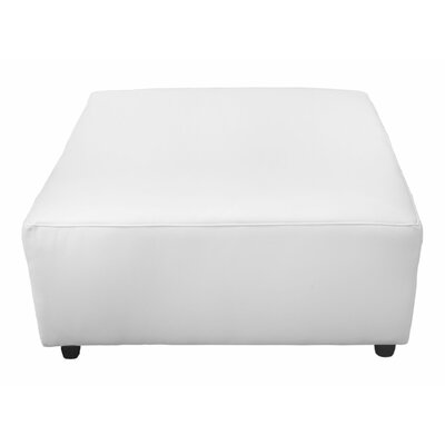 Leather Ottoman Upholstery Color: White