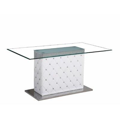 Dining Table Base Finish: White
