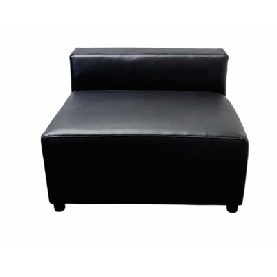 Leather Chair Upholstery: Black