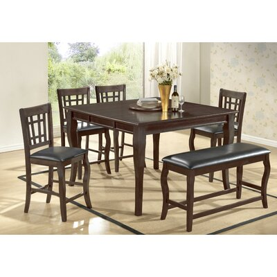Betty 6 Piece Counter Height Dining Set Finish: Dark Cherry