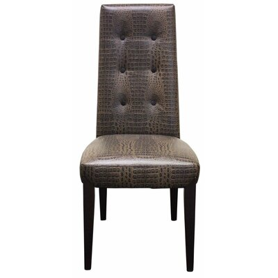 Side Chair Upholstery: Black / Brown