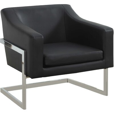 Modern Armchair Upholstery Color: Black