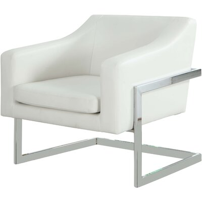 Modern Arm Chair Upholstery Color: White