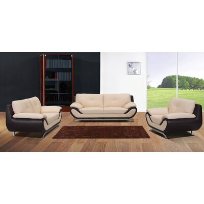Sofa and Loveseat Set Color: Seashell / Black